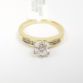 18CT 4.2GR YELLOW GOLD 0.62CT + 0.2CT DIAMOND RING VAL $12635 SIZE M 1/2 #30448