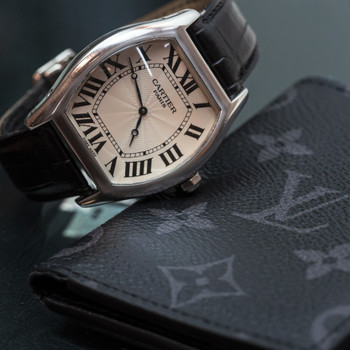 CARTIER WATCH TORTUE NO 18 - LIMITED EDITION PLATINUM - IN BOX #52633