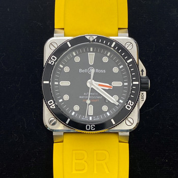 BELL & ROSS AUTOMATIC DIVER WATCH BR03-92-DIV-00133 + 8 BANDS & CARD #52416
