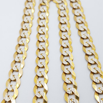 9CT 10.4GR 2 TONE GOLD CURB LINK CHAIN NECKLACE #45461 **
