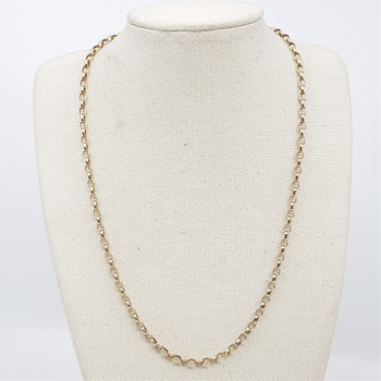 9CT 7.6GR YELLOW GOLD BELCHER CHAIN NECKLACE #49119 **