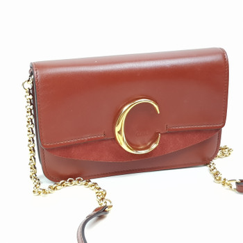 CHLOE C LUXURY SHOULDER BAG - BROWN LEATHER - RRP $1750 CHC19SS192A3727S #52231