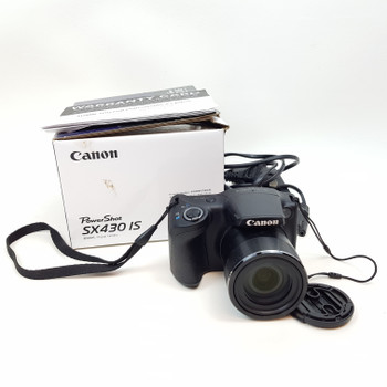 CANON POWERSHOT SX430 IS 20.0 MP CAMERA 45X OPTICAL WIFI + CHARGER+ BOX #52298