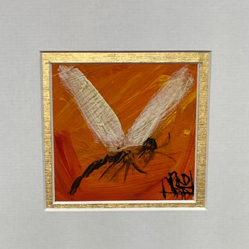 PRO HART (1928-2006) PAINTING - DRAGONFLY - OIL ON BOARD #52128-4