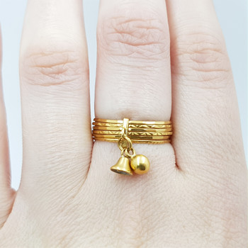 22CT 3.2GR YELLOW GOLD STACKING BELL RING SIZE N 1/2 #52153