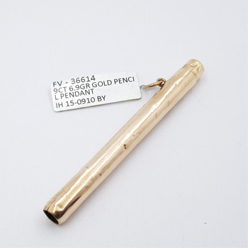 9CT 6.9GR YELLOW GOLD PENCIL HOLDER PENDANT #36614