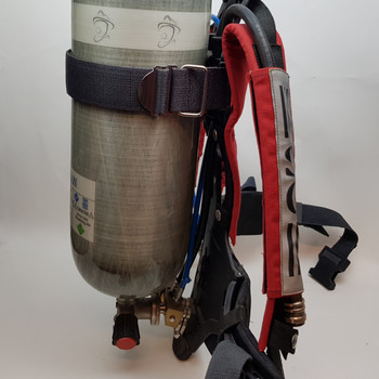 SIEBE GORMAN SELF CONTAINED BREATHING APPARATUS SCBA & 9.0L CYLINDER ECL-XL #35130
