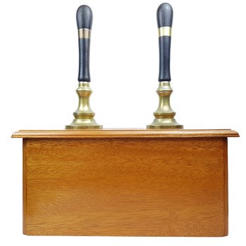 DOUBLE WOODEN BEER PULL TAP / DISPENSER #46120