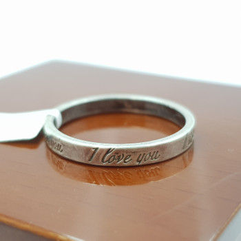 TIFFANY & CO I LOVE YOU SILVER RING 2.6GR SIZE S #52273