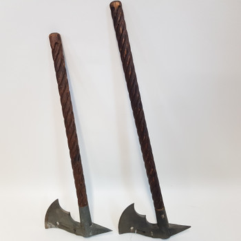 PAIR OF MEDIEVAL AXES (ONE A/F) #52224