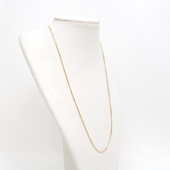 9CT 2.6GR YELLOW GOLD BOX CHAIN NECKLACE 44CM #52712 **