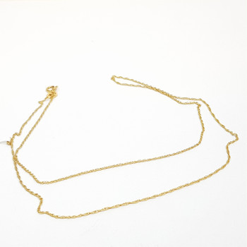 9CT 0.8GR YELLOW GOLD FINE CHAIN NECKLACE 45CM #52716