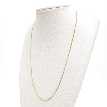 18CT 2.1GR YELLOW GOLD CURB LINK CHAIN NECKLACE 40CM #52721 **