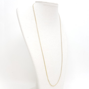 9CT 1.4GR YELLOW GOLD CURB LINK CHAIN NECKLACE 50CM #52722 **