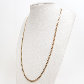 9CT 9.0GR YELLOW GOLD CURB LINK CHAIN NECKLACE #14406 **