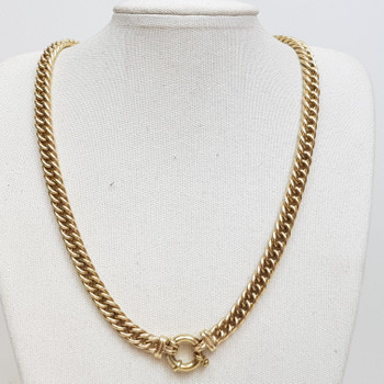 9CT 69.6GR YELLOW GOLD CURB LINK CHAIN NECKLACE #52605 **
