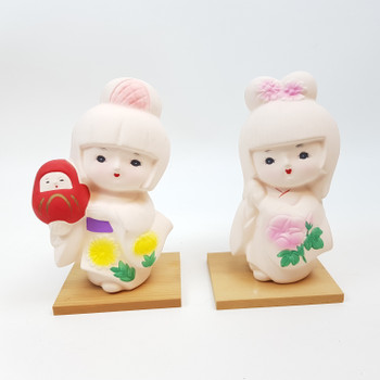 PAIR OF LOVELY DOLL OF KAWASAKI CO. FIGURES #52195