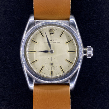 VINTAGE ROLEX OYSTER PERPETUAL BUBBLEBACK WATCH 2764 C/1939 #53016