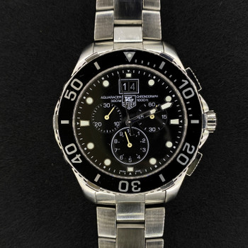 TAG HEUER AQUARACER QUARTZ CHRONOGRAPH WATCH CAN1010 #51914