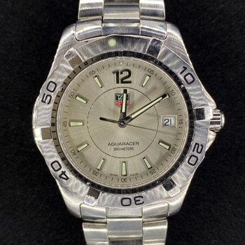 TAG HEUER AQUARACER 300M QUARTZ WATCH WAF1113 + BOX #52247 #52247