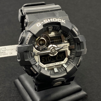 CASIO G-SHOCK BLACK RUBBER WATCH GA710 #52773
