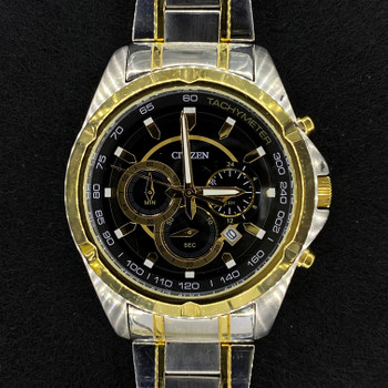 CITIZEN TWO TONE MENS CHRONOGRAPH WATCH 0520-S101174 #52772