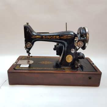 VINTAGE SINGER ELECTRIC SEWING MACHINE 99K + CASE & KEY #48251