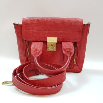 PHILLIP LIM PASHLI MINI SATCHEL (AS IS) RED - RRP $1160 #38367