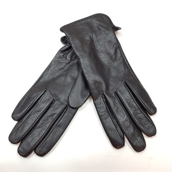*NEW* LADIES LEATHER DENTS GLOVES - BLACK - SIZE M #41478