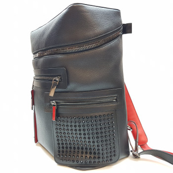 CHRISTIAN LOUBOUTIN CALFSKIN APOLOUBI SPIKED BACKPACK + RECEIPT #52758
