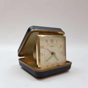 SEIKO VINTAGE FOLDING TRAVEL ALARM CLOCK GK #52956