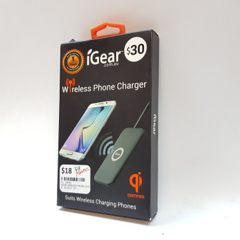 IGEAR WIRELESS PHONE CHARGER IG1893 #53070
