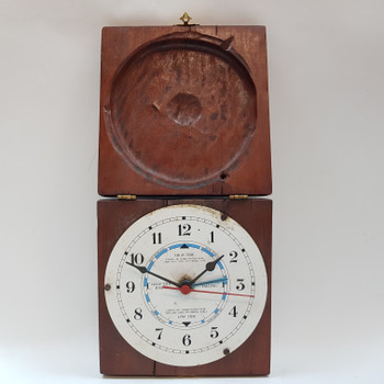 OCEAN TIDE CLOCK IN WOODEN BOX #39786