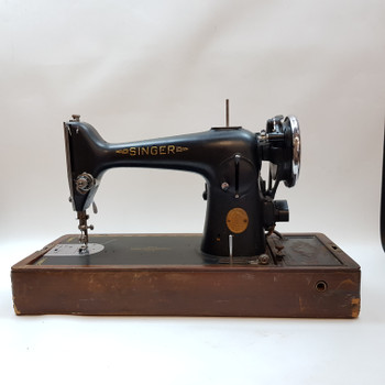 SINGER SEWING MACHINE BRK 12S  - IN WOODEN CASE (A/F) #37129