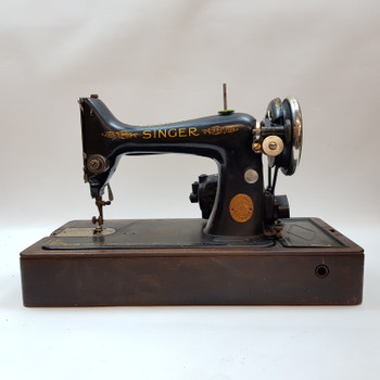 SINGER SEWING MACHINE BRK212 + WOODEN CASE #45685