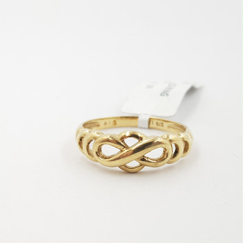 9CT 2.0GR YELLOW GOLD KNOT RING SIZE O #33421