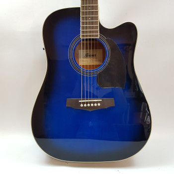 IBANEZ FULL SIZE ACOUSTIC GUITAR PF15ECE-TBS - BLUE #52643