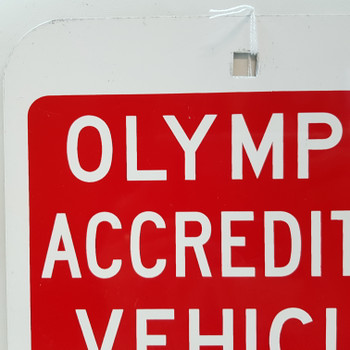 SYDNEY 2000 OLYMPIC ACCREDITED VEHICLE ZONE STREET SIGN #53003