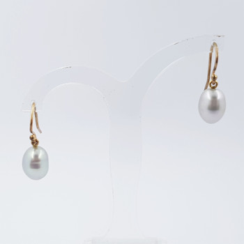 9CT 2.7GR YELLOW GOLD PEARL EARRINGS #46197