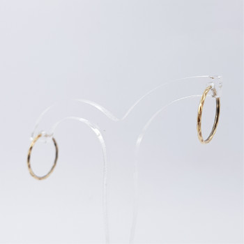 9CT YELLOW GOLD SMALL HOOP EARRINGS #52591