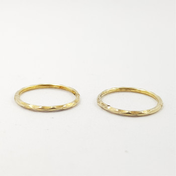 9CT YELLOW GOLD SMALL HOOP EARRINGS #52591-1