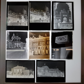 COL. DR ALLAN ROW 10X PHOTOGRAPHIC PLATES - GOV BUILDINGS CANADA AUS #53606
