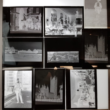23X VINTAGE 1930'S PHOTOGRAPHIC PLATES - BIG BEN / GREAT RAILWAY STATION / SPORTS  #53597