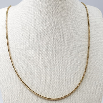 9CT 48CM 5.3GR YELLOW GOLD WEAVE LINK CHAIN #52618 **