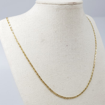 14CT 40CM 3.3GR YELLOW GOLD CHAIN NECKLACE #52733 **