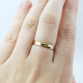 9CT 1.8GR YELLOW GOLD PLAIN BAND RING SIZE M #52500 **