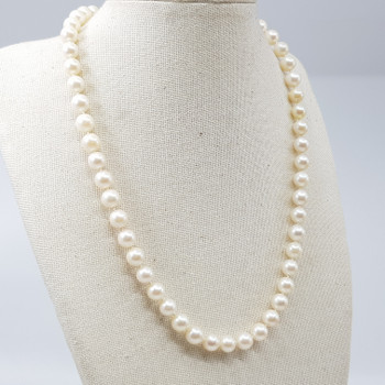 FRESHWATER PEARL STRAND NECKLACE W. SILVER CLASP #53823