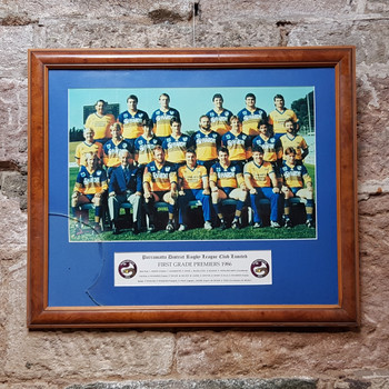 PARRAMATTA NATIONAL RUGBY LEAGUE 1986 FIRST GRADE PREMIERS SQUAD PHOTO (AS IS) #31397