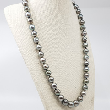 GREY TAHITIAN SOUTH SEA PEARL STRAND NECKLACE VAL $2250 #17111