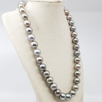 SOUTH SEA TAHITIAN PEARL STRAND NECKLACE VAL $8000 42.5CM #34134